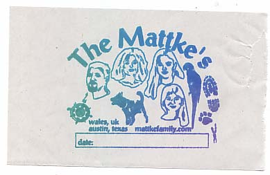 Mattke family letterboxing stamp image